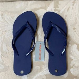 Shoes - Women's Navy Flip Flops